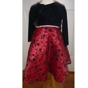 Girls Floral Party Holiday Dress Shrug Sz 4/5 NWT